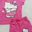 Hello Kitty : set เสื้อ+กางเกงขาสั้น สกรีนลาย Kitty สีชมพูเข้ม size 1-2y thumbnail 2