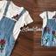 ชุดเซ็ทเสื้อ+เอี๊ยมกระโปรง+ดีเทลงานปัก thumbnail 9
