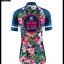 ชุดจักรยานผู้หญิงแขนสั้นขาสั้น CheJi 16 (01) สีน้าเงิน ลายดอกไม้ Recing is life สั่งจอง (Pre-order) thumbnail 15
