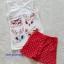 H&M : set เสื้อกล้ามสีขาว+กางเกงขาสั้นสีแดง ลายแมว (งานติดป้ายผิด) size : 8-10y thumbnail 1