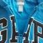 Gap : แจ็คเก็ท กันหนาวมีฮูด ซิปหน้า สีน้ำเงิน ด้านในบุผ้าสำลี Size : 12-18m / 18-24m thumbnail 3