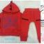 Baby city : ชุดเซ็ท เสื้อมีฮูด+กางเกงผ้าหนา นุ่ม สีแดง thumbnail 1