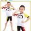 เสื้อจักรยานเด็กแขนสั้นขาสั้น CheJi สีขาวแดงเหลือง thumbnail 3