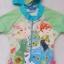 Disney : ชุดว่ายน้ำบอดี้สูทลาย Frozen สีเขียว ซิปหน้า พร้อมหมวกและ ถุงผ้า (งานลิขสิทธิ์) Size : XS (3-4y) thumbnail 2