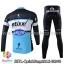 ชุดจักรยานแขนยาวทีม Quick Step 15 สีดำขาวฟ้า สั่งจอง (Pre-order) thumbnail 2