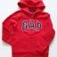 GAP : เสื้อกันหนาว ซิปหน้า ปักโลโก้ GAP สีแดง size : S (6-7y) thumbnail 1
