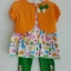 Gymboree ชุดเซ็ท 3 ชิ้น เสื้อแขนกุดลายผีเสื้อมาพร้อมเสื้อคลุมสีส้ม Size : 2T / 3T / 4T thumbnail 1