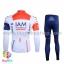 ชุดจักรยานแขนยาวทีม IAM 16 (01) สีขาวน้ำเงินแดง thumbnail 2