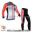 ชุดจักรยานแขนยาวทีม Castelli 14 สีขาวเทาแดง