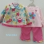 Baby Q : ชุดเซ็ท 3 ชิ้น เสื้อกันหนาวผ้าสำลีสีครีมลายดอกไม้ปักนกฮูก thumbnail 1