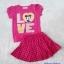 H&M : Set เสื้อ+กระโปรง มินนี่ สีชมพูเข้ม (กระโปรงมีกางเกงข้างใน) size 3-4y / 4-5y / 5-6y thumbnail 1