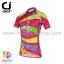 เสื้อจักรยานผู้หญิงแขนสั้น CheJi สีชมพูลายเหลือง สั่งจอง (Pre-order) thumbnail 1