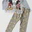 เซ๊ต มิกกี้ มินนี่ สีเทา กางเกงสีเทาลายสีทอง size 4-6 / 6-8 / 8-10 thumbnail 1
