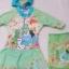 Disney : ชุดว่ายน้ำบอดี้สูทลาย Frozen สีเขียว ซิปหน้า พร้อมหมวกและ ถุงผ้า (งานลิขสิทธิ์) Size : XS (3-4y) thumbnail 1