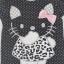H&M : เสื้อยืด สีดำจุด ลายคิตตี้ (งานติดป้ายผิด) size : 1-2y thumbnail 2
