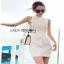 Lady Ribbon Denim Mini Dress มินิเดรส thumbnail 3
