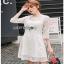 Lady Ribbon Basic White Lace Dress thumbnail 3