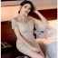 Lady Ribbon Chic gold Lace Mini Dress thumbnail 3