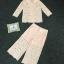เสื้อคอปกผ้าลูกไม้พร้อมกางเกง thumbnail 6
