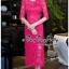สีชมพูบานเย็นชุดเดรสเกาหลี thumbnail 3