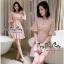 เดรสเกาหลีชุดสีชมพูคอวี thumbnail 2