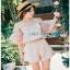 Lady Ribbon Pink Off-Shoulder Top and Shorts thumbnail 3