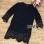 ชุดเดรสผ้าลูกไม้ Valentino เดรสดำ thumbnail 5