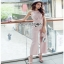 Lady Ribbon Baby Pink Crepe Jumpsuit thumbnail 1