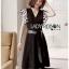 Leather Belt Lady Ribbon ขายเดรสผ้าเครปสีดำ thumbnail 2