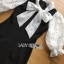 Chiffon and Crepe Dress Lady Ribbon ขายเดรส thumbnail 5
