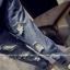 ชุดเอี๊ยมแฟชั่น กางเกงขายาว แต่งขาด ผ้ายีนส์สีเข้ม thumbnail 4