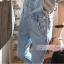 ชุดเอี๊ยม กางเกงขายาว สียีนส์ซีด thumbnail 6