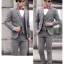 สูท,ชุดสูทชาย แฟชั่นเกรด A สีเทา Size M ( สูท+กั๊ก+กางเกง) thumbnail 1
