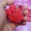 H 146 ของชำร่วย ตลับเมตรพวงกุญแจรูปหัวใจแพ็คกล่อง PVC คาดโบว์ลายจุด thumbnail 2