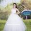 ชุดแต่งงานยาว เจ้าสาวใส่แล้วดูผอมเพรียวมากค่ะ พร้อมส่ง Size S-L thumbnail 1