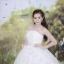 ชุดแต่งงานยาว เจ้าสาวใส่แล้วดูผอมเพรียวมากค่ะ พร้อมส่ง Size S-L thumbnail 4