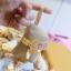 H 126 ของชำร่วย กระเป๋ากระสอบผูกโบว์ผ้าต่วนสีทอง thumbnail 3