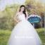 ชุดแต่งงานยาว เจ้าสาวใส่แล้วดูผอมเพรียวมากค่ะ พร้อมส่ง Size S-L thumbnail 6