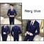 สูท,สูทแฟชั่น+เสื้อกั๊ก ครบเซต สีน้ำเงินกรมท่า คลิกเพื่อดู Size thumbnail 3
