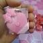 H 146 ของชำร่วย ตลับเมตรพวงกุญแจรูปหัวใจแพ็คกล่อง PVC คาดโบว์ลายจุด thumbnail 1