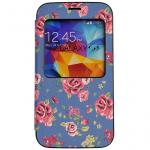 Window View Flip Cover Case Skin Protective Womens Cute Flower Floral for Samsung Galaxy S5, SV, G900