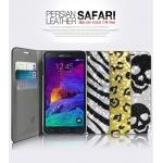 Dreamplus : Persian Safari Leather Crystal Cubic Case Cover For Galaxy Note 4