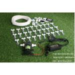SAVE SET 7 ชุดพ่นหมอก 40 หัวพ่นหมอกเนต้าฟิล์ม 0.6 mm. + สายพ่นหมอก 50 เมตร ( ใช้ได้ทั้งแบตเตอรี่และไฟบ้าน 220 โวลต์ )