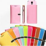 Unique Pastel Color Practical Design Slim Wallet Flip Case Cover For Galaxy Note 4