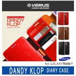 VERUS : DANDY KLOP Diary Case Leather Wallet Cover For Galaxy Note 4