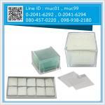กระจกปิดสไลด์ 18x18 มม แพ็คละ 10 กล่อง กล่องละ 100 ชิ้น