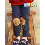 (Pre) กางเกงเลคกิ้ง หน้าหมี สีน้ำเงิน