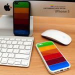LIM'S : Rainbow Classic Edition Colorful Bar Cover Case 3 Types For iPhone 5