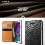 VERUS : Luxurious Python Genuine Leather Diary Case For Galaxy Note 4