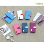 MOBC : W Pocket Diary Lots of Card Pockets / Colorful Cover Case for iPhone 5